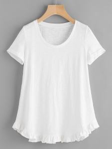 teeshirt blanc shein