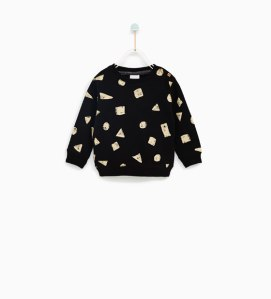 sweat noir zara
